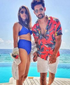 Ravi Dubey and Sargun Mehta are included in the television's Most Popular Couples. This TV show's love story is no less than a fairytale. Ravi Dubey and Sargun Mehta are enjoying their holidays in the Maldives these days. Ravi Dubey, Ammy Virk, Jassi Gill, Indian Bikini, Bollywood News, Hot Actresses, Love Story, Bikinis, Swimwear
