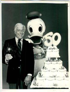 Dick Van Dyke helps Donald celebrate his 50th in 1984.