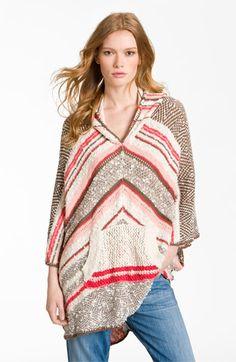 Free People 'Zorba' Stripe Sweater Poncho