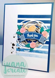 Stampin' Up! Swirly Bird Stamp Set & Swirly Scribbles Thinlits Dies - Thoughtful Banners & Duet Banners Punch - Juan Ambida Independent Stampin' Up!® Demonstrator Australia: Crazy Crafters International Blog Hop - Thoughtful Swirly Bird