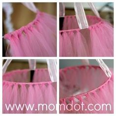 How to make a tutu chandelier - Influential Mom Blogger, Brand Ambassador, PR Friendly