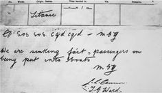 Titanic SOS telegram