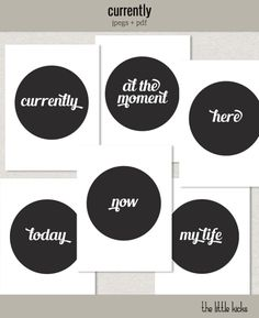 Freebie: Project Life 'Currently' journaling cards