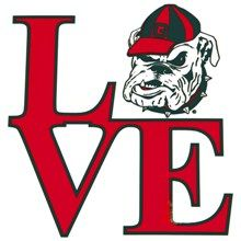 "UGA Georgia Bulldogs ""LOVE"" Decal"