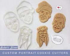 Excited to share this item from my shop: Custom Portrait Cookie Cutter l Personalized cookie cutter l Custom gift l Face l Christmas l Birthday l Wedding Unique Birthday Gifts, Unique Gifts, Wedding Gift Messages, Face L, Personalized Cookies, Logo Cookies, Custom Cookie Cutters, Gift Certificates, Cookies Et Biscuits