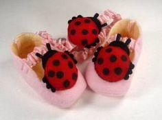 Ladybug Headband and Booties   YouCanMakeThis.com