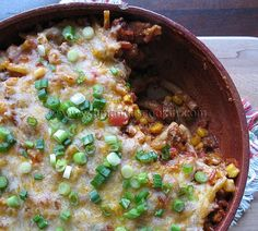 Southwest Ground Beef Casserole - Easy and tasty. This would be good with some black beans and cilantro too.