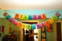 House Warming Party Ideas | housewarming party banner decor paint samples | Party Ideas