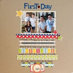 First Day - cute idea for journaling