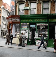 Frith Street, Soho in Shop Fronts, Photomontage, Soho, Manchester, 19th Century, London, Street, Art, Art Background
