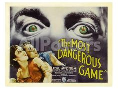 The Most Dangerous Game, 1932 Movies Art Print - 61 x 46 cm
