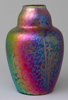 Weller Pottery, Sicard vase, 8 7/8 in. H  |  Metropolitan Museum of Art