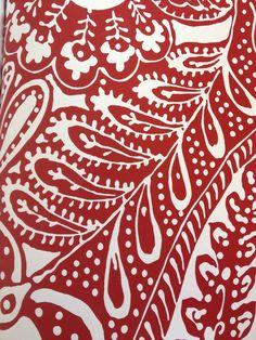 Paisley Print Pattern | schumacher avante garde paisley print in red | Pattern
