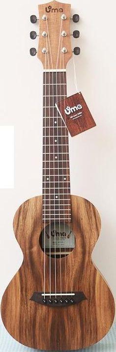 UMA tenor Guitalele #LardysUkuleleOfTheDay ~ https://www.pinterest.com/lardyfatboy/lardys-ukulele-of-the-day/ ~ UMA apparently stands for Unidentified Mystery Animal - seems an odd choice to me?