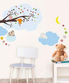 Loving this Sleepy Animals Wall Decal Set on #zulily! #zulilyfinds