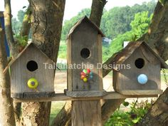 30% OFF TODAY Primitive Birdhouses Rustic by TallahatchieDesigns