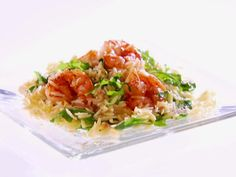 Get Giada De Laurentiis's Lemony Shrimp Scampi with Orzo and Arugula Recipe from Food Network