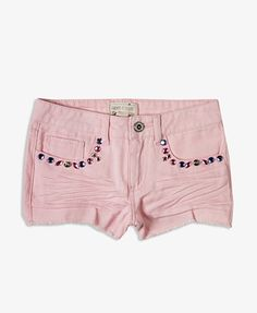 Pink shorts with studs