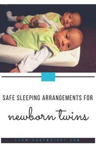 Safe Sleeping Arrangements for Newborn Twins. Sleep options to keep your twins safe and help everyone sleep. #newborntwins #twinsleep #babytwinsleep #newborntwinsleep #twinnaps #twinnightsleep #twintips #twinhacks #twinbassinet #twincribs #twinnursery Team-Cartwright.com