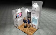 x Modular Exhibition Stand – 3 Slat Wall, Exhibition Stands, Stand Design, Display, Floor Space, Billboard, Booth Design