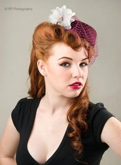 pillbox hat with victory curls