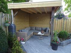 Afbeeldingsresultaat voor tuin met grijze tegels