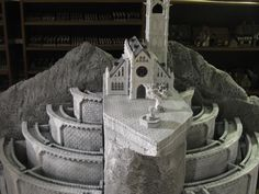 Styrofoam LOTR Minis Tirith Miniature Gaming Model