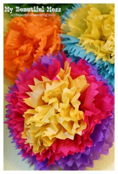 How to make Mexican Tissue Paper Flowers - Tutorial