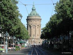 Wasserturm in Mannheim, Deutschland