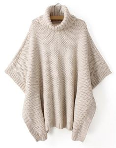Casual Style Turtle Neck Solid Color Batwing Sleeve Women's SweaterSweaters & Cardigans | RoseGal.com