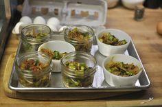 cups/jars with sauteed vegetables by Marisa   Food in Jars, via Flickr