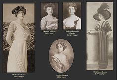 Ladies from the Titanic.  Mrs. Astor survived but her husband did not.