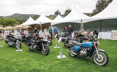 The Quail Motorcycle Gathering 2015 - Honda lined up half a dozen Gold Wings to show progress in the last 40 years.