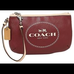 Coach Clutch 100% GENUINE AUTHENTIC BRAND NEW WITH Box. HOT TREND ALERT! SAFFIANO LEATHER IS THE MOST SOFT, LUXURIOUS LEATHER THAT COACH PRODUCES! And, this color CRIMSON color is a rich, classy deep red; a color that is NOT AVAILABLE IN COACH STORES OR FACTORY STORES! Coach Bags