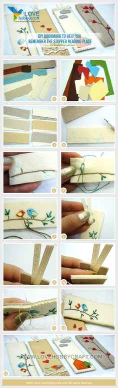 DIY bookmark to help you remember the stopped reading place