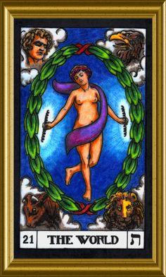 Card 21 The World Sphinx, Palmistry, Oracle Cards, Tarot Decks, Numerology, Tarot Cards, Grande, Mystic, Astrology