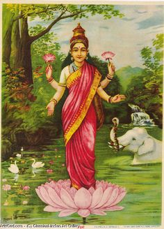 There are many Hindu gods and goddesses, including Brahma, Vishnu, and Shiva. Learn about some of the most important deities of the Hindu faith. Indian Goddess, Goddess Lakshmi, Goddess Art, Ravivarma Paintings, Indian Paintings, Raja Ravi Varma, Indian Art Gallery, Indian Artwork, India Art