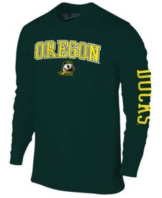 Colosseum Men's Oregon Ducks Midsize Slogan Long Sleeve T-Shirt - Green