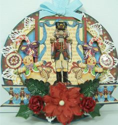 Graphic 45 Nutcracker Sweet ornament by Andrew Roberts! #graphic45 #ornaments