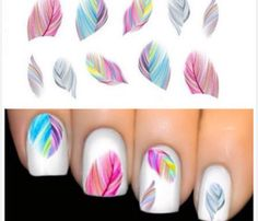 Hot Sale Beautiful Feather Nail Art Water by CosmetologyJewelry