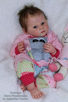 """New Release Reborn Baby Doll Kit Claire By Ann Timmerman@22""""@Body Included"""