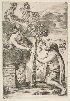 Etched by Stefano della Bella   Frontispiece for Il Mercurio, III: Hercules Planting His Club   The Met