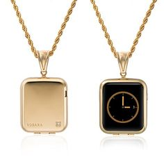 Necklace for Apple Watch with Protective Case By Vobara/ Sport Watch / Watch Edition 38mm and 42mm Accessory - Includes Screen Protector and Chain ( Replaces iWatch Band ) (42mm Gold) -- Check out this great product.