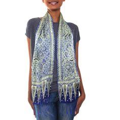 Royal+Java+Blue+-+Handmade+Silk+Batik+Scarf+from+Indonesia+at+The+Rainforest+Site