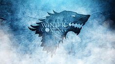 """Winter is Coming"" Stark Blue Design - Game of Thrones 1600x900 wallpaper"