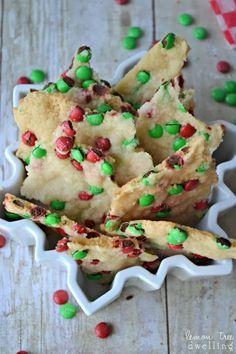 Festive Red & Green Sugar Cookie Brittle | Lemon Tree Dwelling