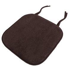Lavish Home Memory Foam Pad Dining Chair Cushion Fabric: Chocolate Custom Outdoor Cushions, Outdoor Lounge Chair Cushions, Bench Cushions, Patio Chairs, Desk Chairs, Chair Ties, Cushion Fabric, Tufting Buttons, Dot And Bo