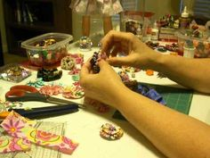 How to Make Ribbon Barrettes Part 4