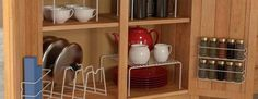 narrow kitchen cabinet with drawers