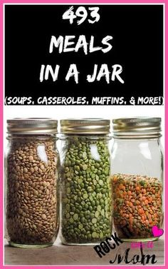 Since we're always looking for ways to stretch your grocery budget, these meals in a jar will be an amazing help in stocking your pantry…until it BURSTS! Choose from 493 recipes for casseroles, soups, muffins and more!